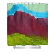 Red Hills Revisited. Shower Curtain