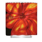 Red Hibiscus 1 Shower Curtain