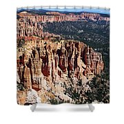 Red Hoodoos Of Bryce Canyon National Park Shower Curtain