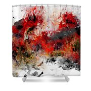 Red Hope  Shower Curtain