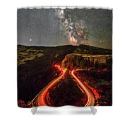 Red Hot Cauldron Shower Curtain