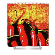Red Hot Chili Peppers  Shower Curtain