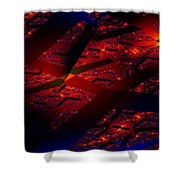 Red Hot Confetti Shower Curtain