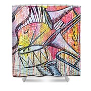 Red Hot Jazz Shower Curtain
