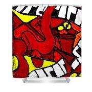 Red Hot Jazz Shower Curtain