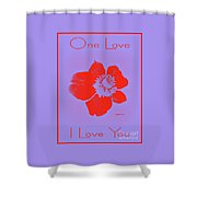 Red Hot Passion Flower Shower Curtain
