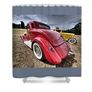 Red Hot Rod - 1930s Ford Coupe Shower Curtain