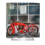 Red Hot Tail Gunner Shower Curtain