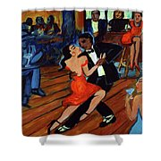 Red Hot Tango Shower Curtain