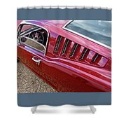 Red Hot Vents - Classic Fastback Mustang Shower Curtain