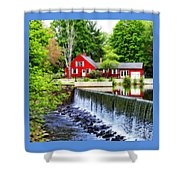 Red House By The Falls Shower Curtain
