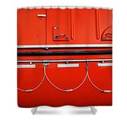 Red Hull Shower Curtain