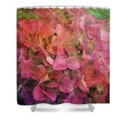Red Hydrangea 2421 Idp_2 Shower Curtain