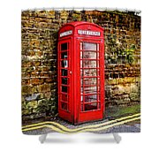 Red Icon Shower Curtain