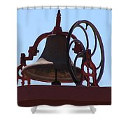 Red Iron Bell Shower Curtain