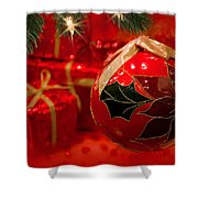 Red Is Christmas Shower Curtain