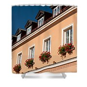 Red Ivy Leaved Geranium Bunches Shower Curtain