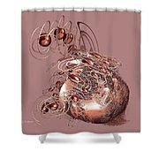 Red Jewels Shower Curtain