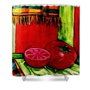 Red Juicy Tomatoe's Shower Curtain