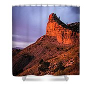 Red Knife Shower Curtain