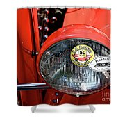 Red La Roadster Shower Curtain