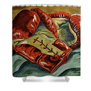 Red Laces  Shower Curtain