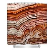 Red Laguna Lace Agate Shower Curtain