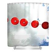 Red Lanterns In Chinatown Shower Curtain