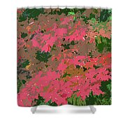 Red Leafs Work Number 12 Shower Curtain