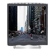 Red Lights - City Of Chicago Shower Curtain