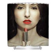Red Lipstick Shower Curtain