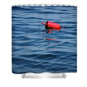 Red Lobster Buoy Shower Curtain