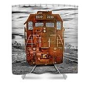 Red Locomotive Shower Curtain