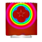 Red Logo Shower Curtain