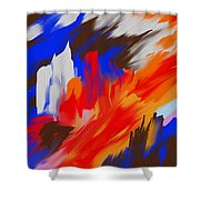 Red Lore Shower Curtain