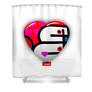 Red Love Heart Shower Curtain