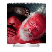 Red Man Shower Curtain