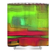 Red Meets Green Shower Curtain