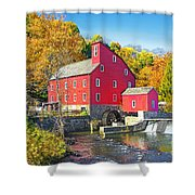 Red Mill Nj Fall Landscape Shower Curtain