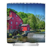 Red Mill Of Clinton New Jersey Shower Curtain