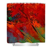 Red Mood Shower Curtain