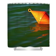 Red Mooring Buoy Shower Curtain