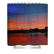 Red Morning Sun  Shower Curtain