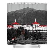 Red Mount Washington Resort Shower Curtain