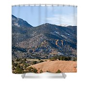 Red Mountain And Pikes Peak Shower Curtain