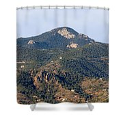 Red Mountain In The Foothills Of Pikes Peak Colorado Shower Curtain