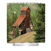Red Mountain Mine. Shower Curtain