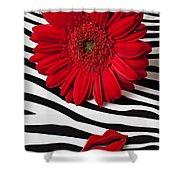 Red Mum And Red Lips Shower Curtain