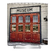 Red Museum Door Shower Curtain
