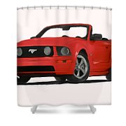 Red Mustang Shower Curtain